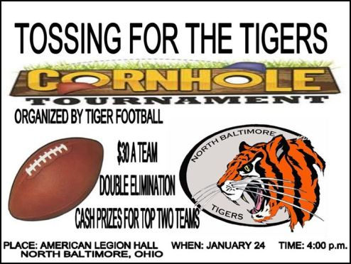 Tossing for Tigers flyer Jan. 24