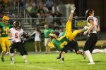 David Patterson upends he Hornet quarterback