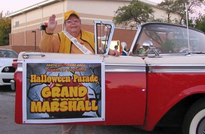 Bonnie Knaggs was the Halloween Parade Grand Marshall