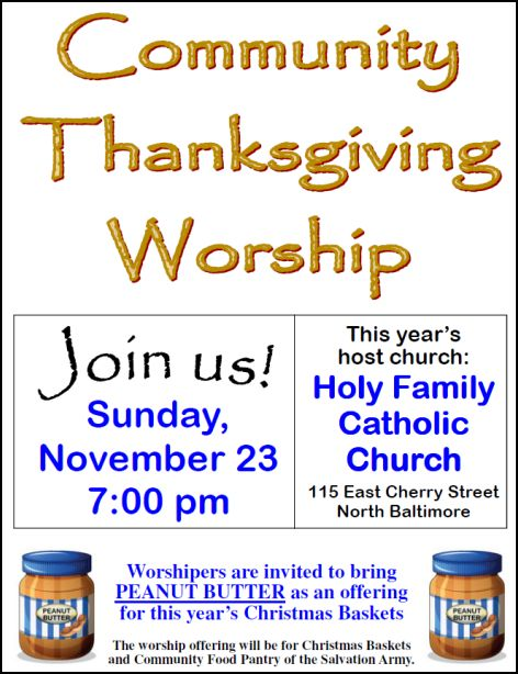 NB Community Thanksgiving Worship