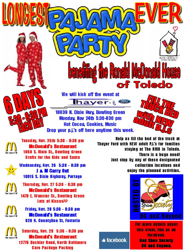 Red Shoe Society PAJAMA PARTY