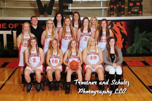 Girls Varsity BB Team Picture 2014-2015