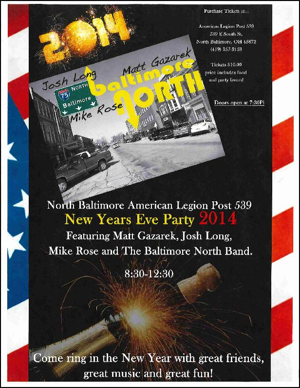 Legion New years party 2014