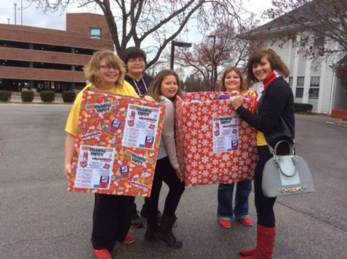 The Red Shoe Gals Delivering the Goodies to Ronald McDonald House