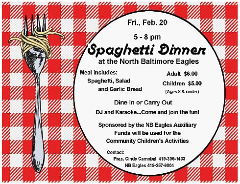 Eagles Spahetti Dinner Feb. 2015