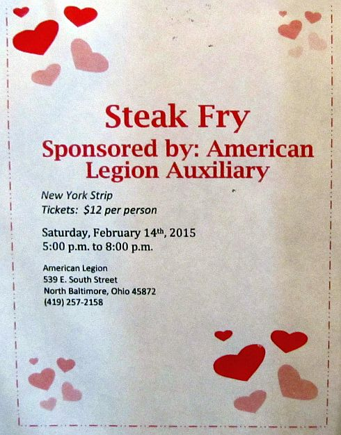Legion Valentines Day Steak Dinner