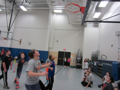 Fourth, fifth, and sixth graders keep their eyes on the ball!