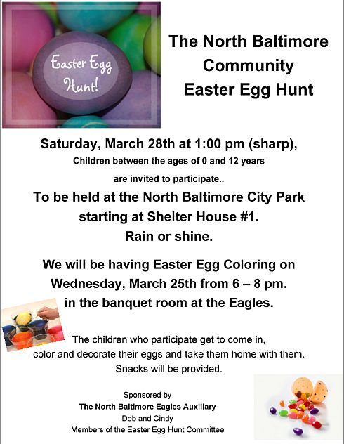 Eagles Aux Easter Egg Hunt 2015 flyer