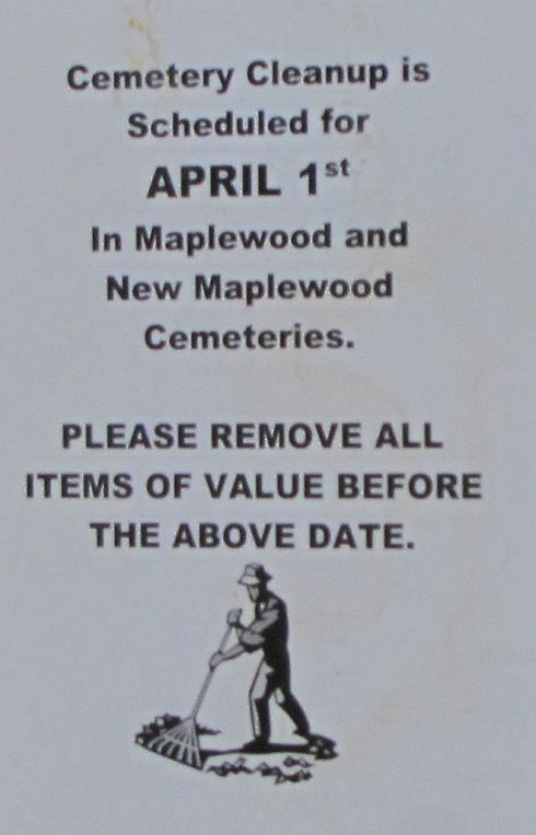 NB Cemetery Clean-Up