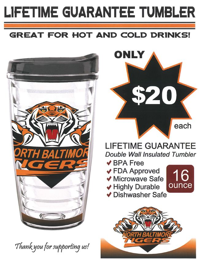 """Tiger Cups"" being sold by High School Band Members"