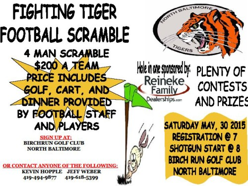 Football Golf Scramble 2015 flyer