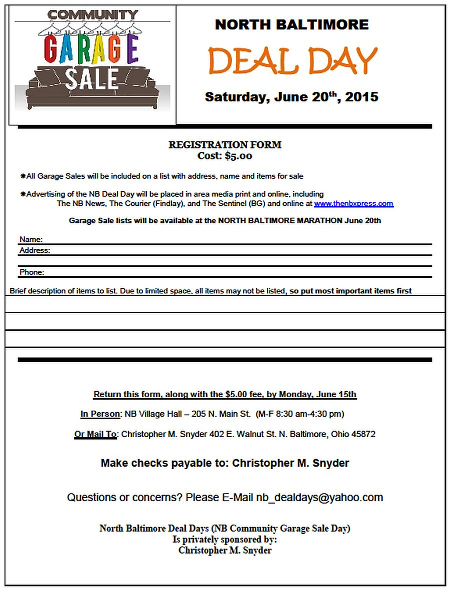 NB Deal Day 2015 flyer