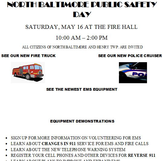 TODAY (May 16) FREE LUNCH – NB Public Safety Services Day