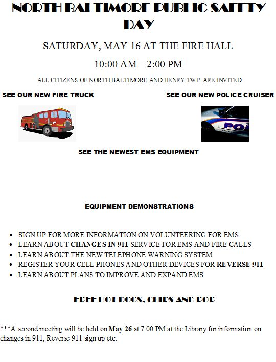 NB Public Safety Services Day flyer