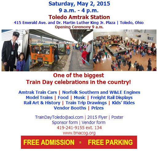 Toledo Train Day starts tonight