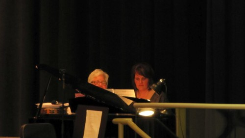 Janet Goldner and Marcy Byrd provide an amazing amount of experience and talent to the NBLS music department. (THANK YOU)