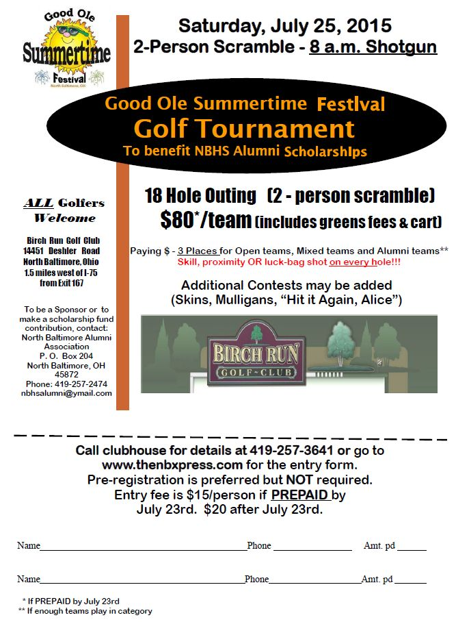 GOST Golf Registration 2015 flyer