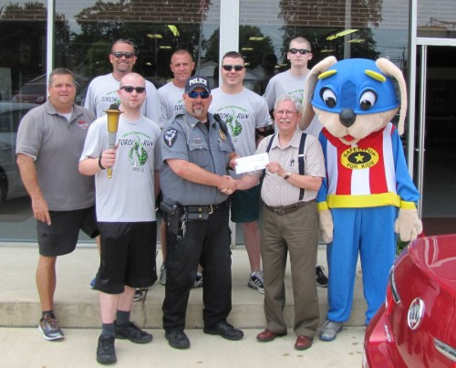 NBPD S. O. Torch Run 2015 Kelley Check