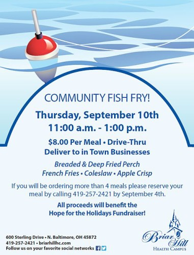 Briar Hill Community Fish Fry Sept. 2015 flyer