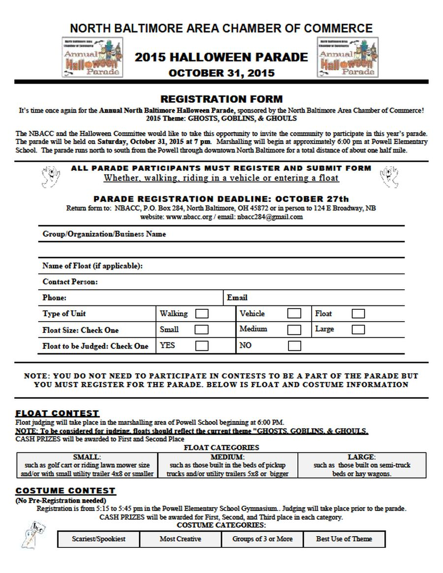 NBACC 2015 halloween registration