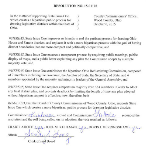Commissioners Issue 1