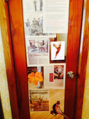 Picture of the Clark Gable Pheasant Hunting Exhibit at the North Baltimore Area Historical Center.