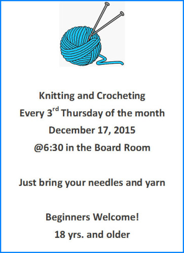 LibraryKnittingCrochetingFlyer