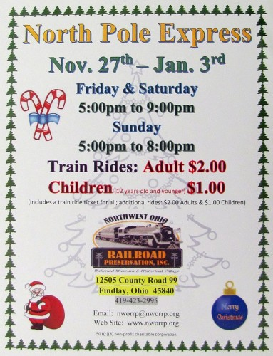 North Pole Express 2015 flyer