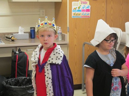 Powell Kindergarteners present a Thanksgiving play for their parents.