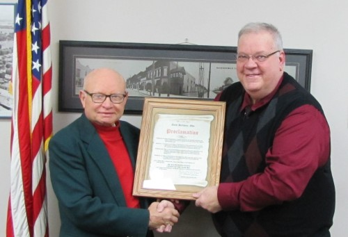 Citizen of the Yer Dr. Ralph Wolfe with Mayor Mike Julien