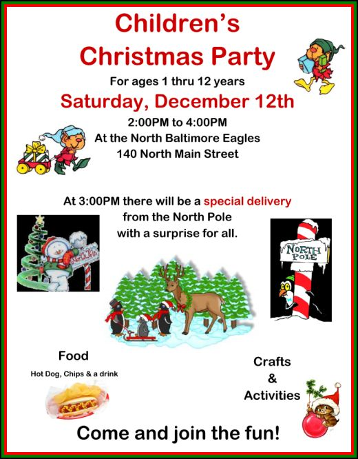 Kids Christmas Party is Saturday