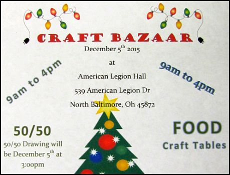 Craft Bazaar Saturday Dec. 5