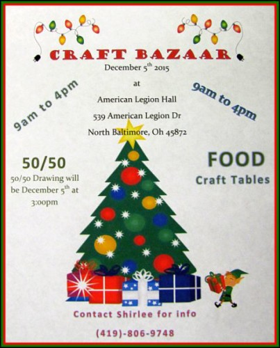 Legion Aux Craft Show Nov 2015 flyer