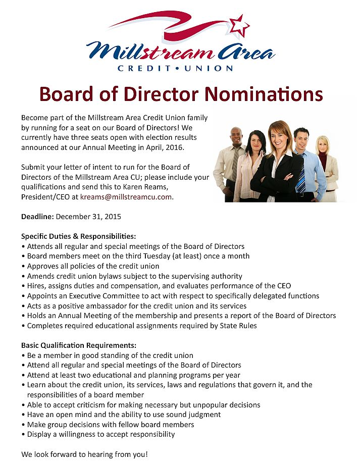 MACU Board Nominations flyer