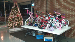 Kids had a chance to win a free bike after visiting with Santa (See another story on TheNBXpress.com)