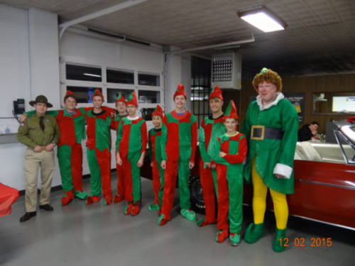Buddy and his Scout Elf helpers were ready to assist