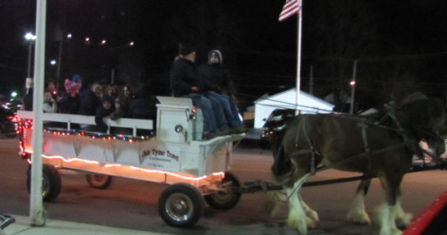 It was a nice evening for a horse drawn wagon ride