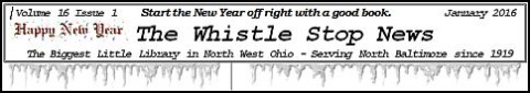 Whistle Stop News NB Library Jan newsletter masthead