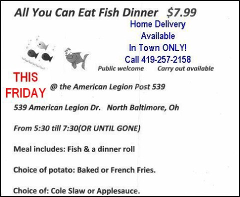 Legion-Fish-Fry  with Delivery - THIS FRIDAY