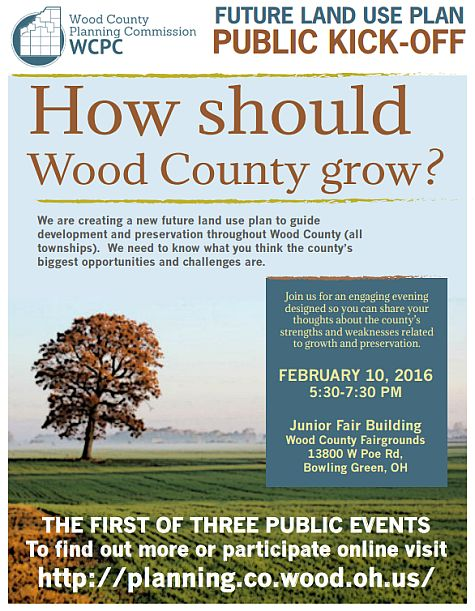 MEETING TONIGHT – – – INPUT NEEDED – – – HOW SHOULD WOOD COUNTY GROW?