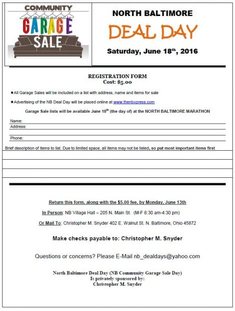 NB Deal Days 2016 Reg Form