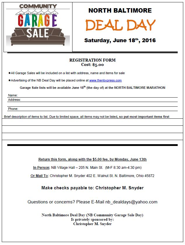 NB Deal Day 2016 Registration Form