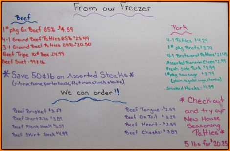 Custom Cuts From Our Freezer July 1