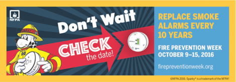 Fire Prevention Week – Every smoke alarm has an expiration date: What's yours?
