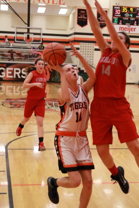 Grace Hagemyer about to get hammered on the shot