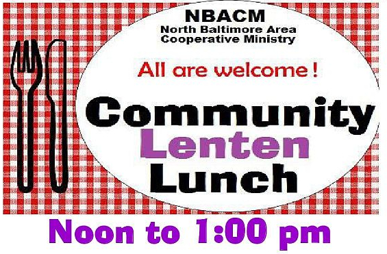 Lenten Lunch Today – March 22