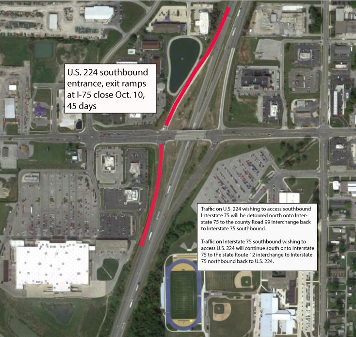 I – 75 Exits Through Findlay Challenging