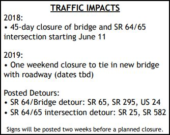 Maintenance of Traffic Open House for the Waterville Bridge project