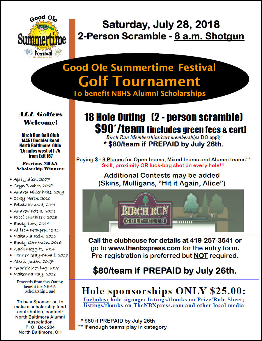 GOST Golf Tourney Has Openings COME ON OUT (by 7:30 am)!