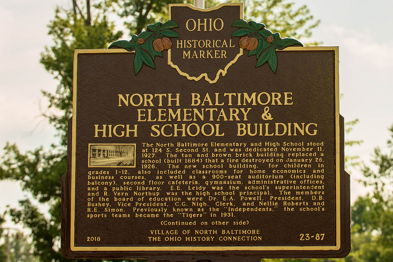 Village has Historical Marker placed at Former School Site